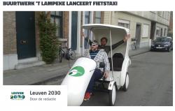 lancering fietstaxi en brochure 'de Groene Ridder'